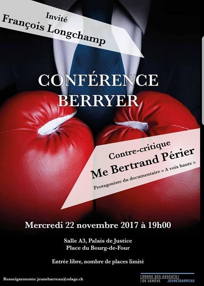 Conférence Berryer - 22 november 2017